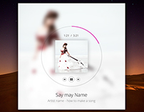 Music Player With Album Light/Dark - FREE PSD