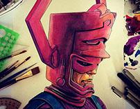 Galactus Watercolor