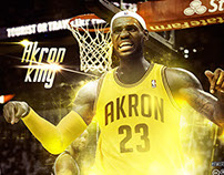 """LeBron James """"Akron King"""""""