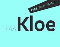 FF4a Kloe - Free font family.