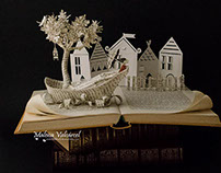 """""""Going to a Town"""" Book Sculpture"""