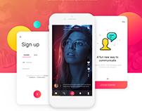 UI/UX Design for Social Images-Video Sharing Mobile App