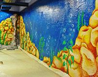 Mural sumergido para acuario / Globant - MdP