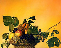 Basket of Fruit (according to Caravaggio)