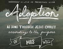 Ephesians 1:4-5 Type Poster