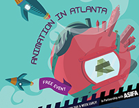 Atlanta Festival Eat Drink B Indie Event Poster