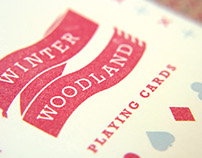 Winter Woodland Playing Cards