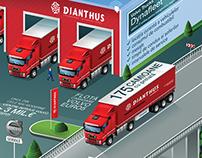 Isometric ad - Dianthus