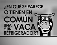 ¿Una Vaca y un Refrigerador?