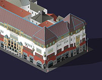 Isometric drawing - Building in Tg.Mures