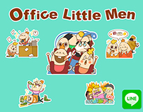LINE Stickers: Office Little Men
