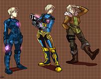 Metroid - Young Samus designs