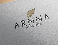 Arnna Boutique Hotel Logo Design