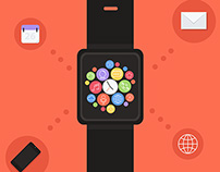 iwatch flat illustrations