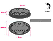 DC comics -  silicon tray