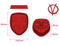 """""""V for Vendetta""""  silicon tray"""