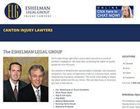 Canton Injury Lawyers - Responsive One Page