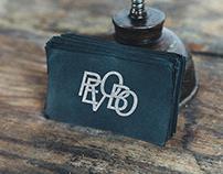 Black card mockup [My logo-monogram]
