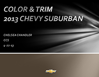 CHEVY SUBURBAN VEHICLE COLOR AND TRIM