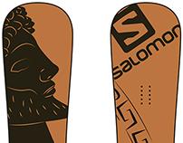 Projet design planche de snowboard.