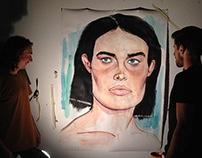 large acrylic portrait
