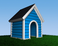 3D Rendered Doghouse