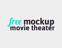 Free Movie Theater Mockup