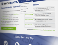Tick Data - Website Design