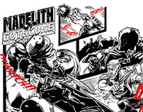 Madelith of Gothcore! A two page comic for Heelside mag