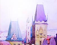 City watercolor 2014