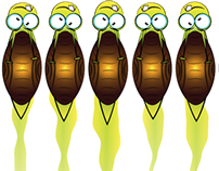 Insect animation - Flower defense, mobil game