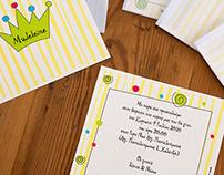 crown | christening invitation