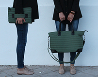 Recycled Military bag&clutch