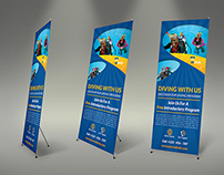 Diving Signage Roll-Up Banner Template Vol.2