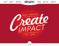 Drum Creative Responsive WordPress Website
