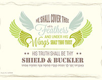 Typographic art - Psalm 91