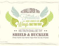 Typographic art - Psalm 91