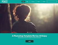 Peace: Free Website Template Psd