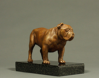 """Winston commission"" Bronze, 3.5""x 5""x 2.5"""