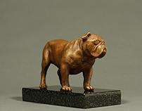 """Winston commission"" Bronze, 3.5""x 5""x 2.5"""
