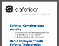 Safetica - Leaflet, rollups and flyers for IT-SA