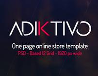Adiktivo online store FREE template