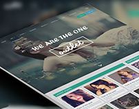 "Online Magazine website design for "" OUTLET """