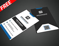 Black & White Vertical Business Card (FREE)