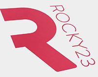 Rocky 23 logo design