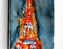 Travel Sketchbook France // Paris & Normandy