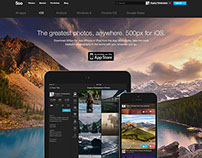500px marketing site pages
