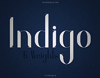 Indigo Typeface - 6 Weights. Free font
