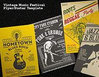 Vintage Music Festival Flyer/Poster Template