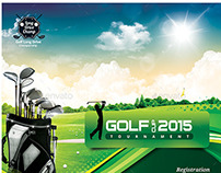 Golf Event Flyer Template